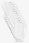 Next 10 Pack GOTS Organic Cotton Short Sleeve Bodysuits (0mths-3yrs)