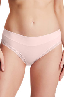 Perfects Cotton Hicut with Comfort Waist & Lace Trim - 264995