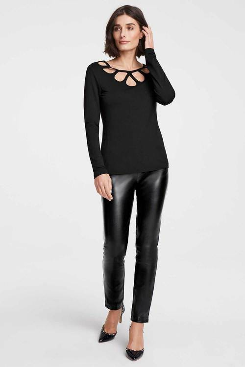 Heine Faux Leather Trouser