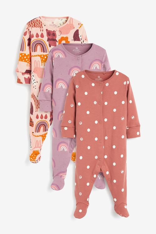Next 3 Pack RaiNewbornow Character Sleepsuits (0-2yrs)