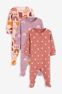 Next 3 Pack RaiNewbornow Character Sleepsuits (0-2yrs) - 265048