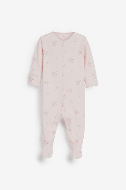 Next 4 Pack GOTS Organic Delicate Bunny Sleepsuits (0-2yrs)