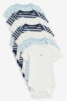 Next 7 Pack Star Stripe Short Sleeve Bodysuits (0mths-3yrs) - 265065
