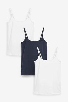 Next 3 Pack Thin Strap Vest - 265199