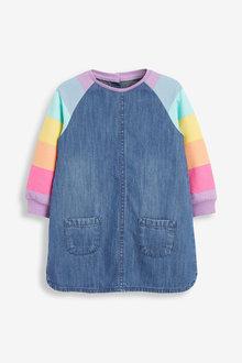 Next Rainbow Raglan Denim Dress (3mths-7yrs) - 265208