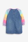 Next Rainbow Raglan Denim Dress (3mths-7yrs)