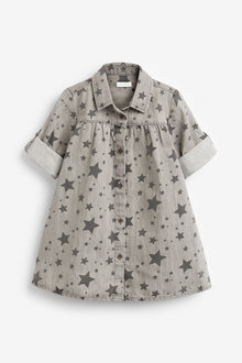Next Star Print Denim Shirt Dress (3mths-7yrs) - 265209
