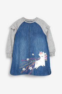 Next Unicorn Raglan Dress (3mths-7yrs) - 265213