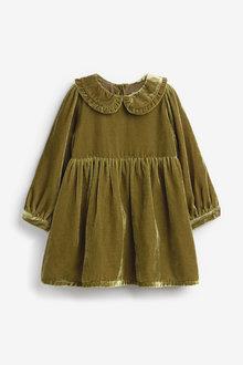 Next Lace Collar Velvet Dress (3mths-7yrs) - 265254