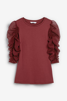 Next Ruched Sleeve Top - 265308