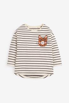 Next Long Sleeve Leopard Pocket T-Shirt (3mths-7yrs) - 265315