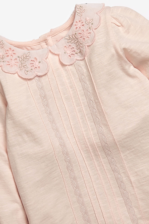 Next Embroidered Collar Top (3mths-7yrs)