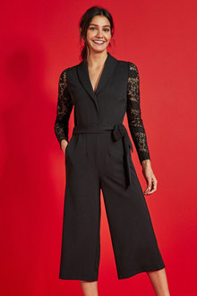 Next Lace Sleeve Jumpsuit - 265353