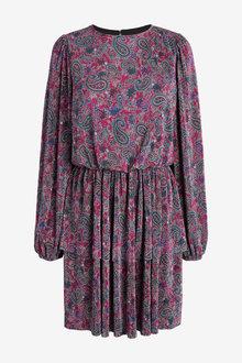 Next Pleated Tier Mini Dress - 265382