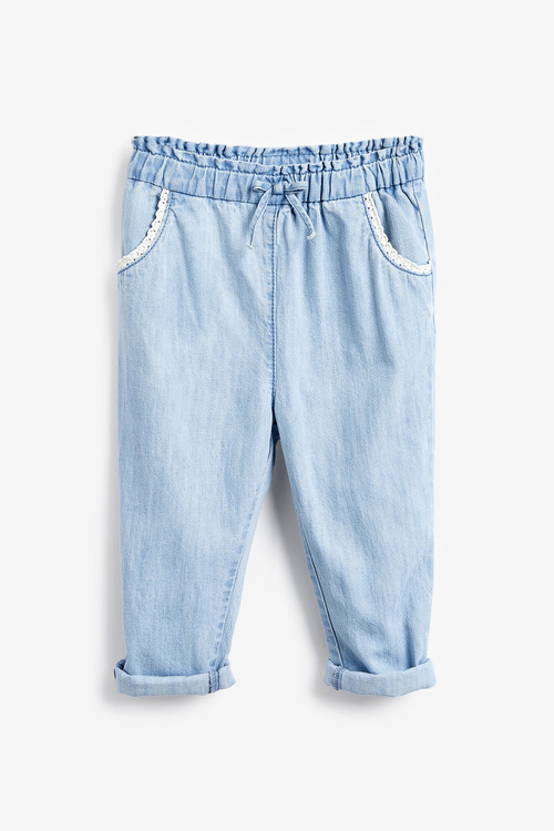 Next Chambray Crochet Pocket Trousers (3mths-7yrs)