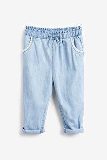 Next Chambray Crochet Pocket Trousers (3mths-7yrs) - 265454