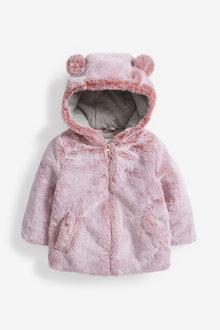 Next Tipped Faux Fur Jacket (12mths-7yrs) - 265488