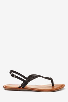 Next Forever Comfort Double Plait Toe Thong Sandals-Wide - 265558