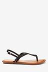 Next Forever Comfort Double Plait Toe Thong Sandals-Wide