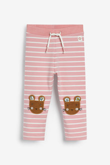 Next Stripe Mouse Embroidered Leggings (3mths-7yrs) - 265566