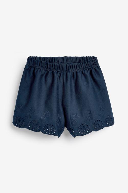 Next 3 Pack Jersey Broderie Shorts (3mths-8yrs)