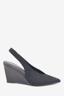 Next Point Toe Slingback Wedges - 265603