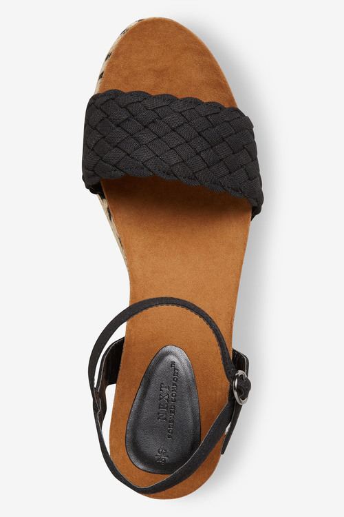 Next Weave Strap Cork Footbed Wedges-Regular