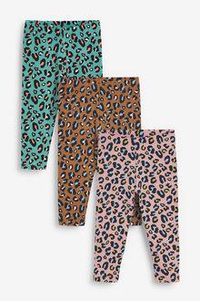 Next 3 Pack Animal Leggings (3mths-7yrs) - 265614
