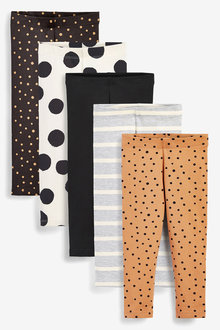 Next 5 Pack Leggings (3mths-7yrs) - 265622