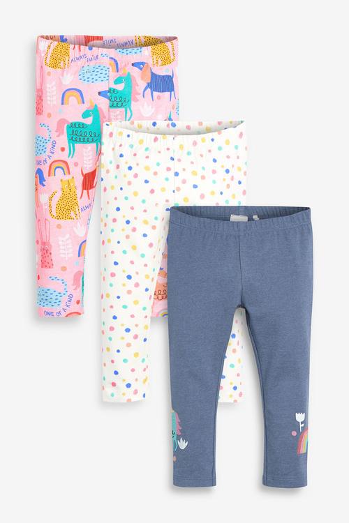 Next 3 Pack Leggings (3mths-7yrs)