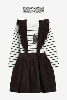 Next Dog Patch Skirt Top And Headband Set (3mths-7yrs) - 265654