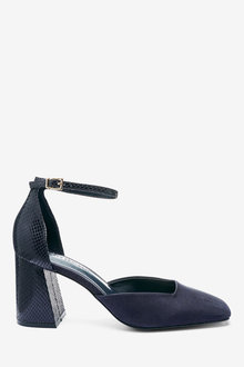 Next Square Toe Flared Heel Two Part Shoes - 265657