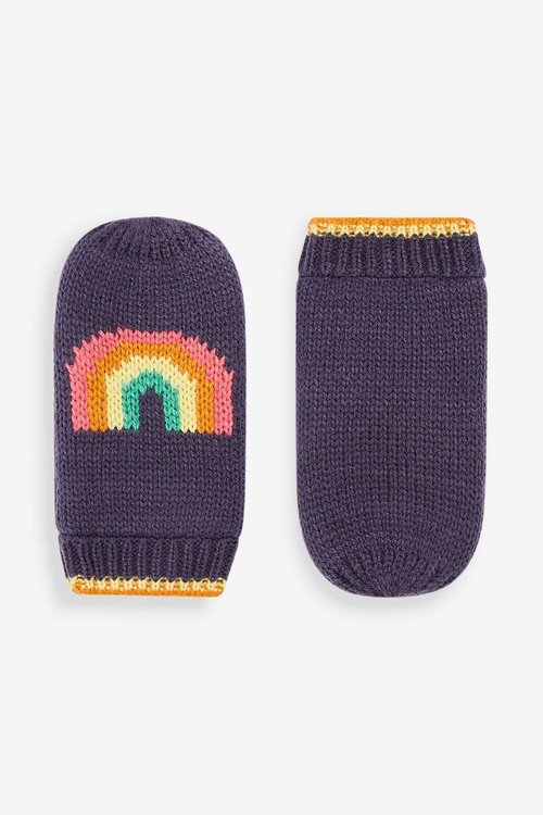Next Rainbow Beanie And Mittens 2 Piece Set (Younger)