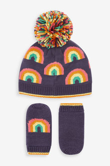 Next Rainbow Beanie And Mittens 2 Piece Set (Younger) - 265666