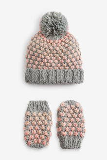 Next Knitted Hat & Mittens Set (Younger) - 265668
