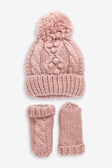 Next Cable Hat And Mittens Set (Younger) - 265675