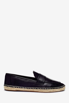 Next Espadrille Detail Leather Loafers - 265704