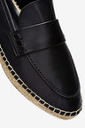 Next Espadrille Detail Leather Loafers