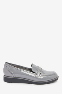 Next Forever Comfort Brogue Detail Chunky Sole Loafers-Regular - 265752