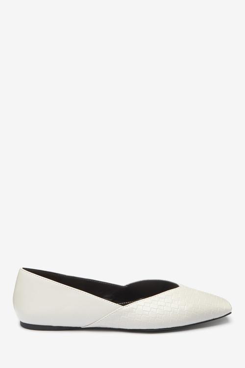 Next V-Cut Ballerina Shoes-Regular