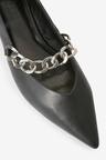 Next Chain Detail Point Ballerinas