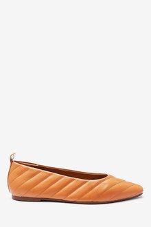 Next Almond Toe Quilted Ballerinas-Regular - 265778
