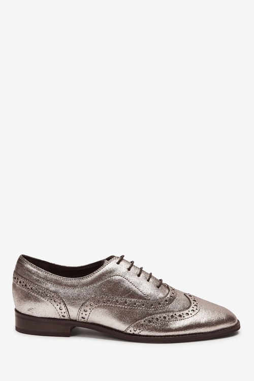Next Signature Forever Comfort Leather Square Toe Lace-Up Brogues