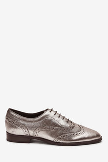 Next Signature Forever Comfort Leather Square Toe Lace-Up Brogues - 265786