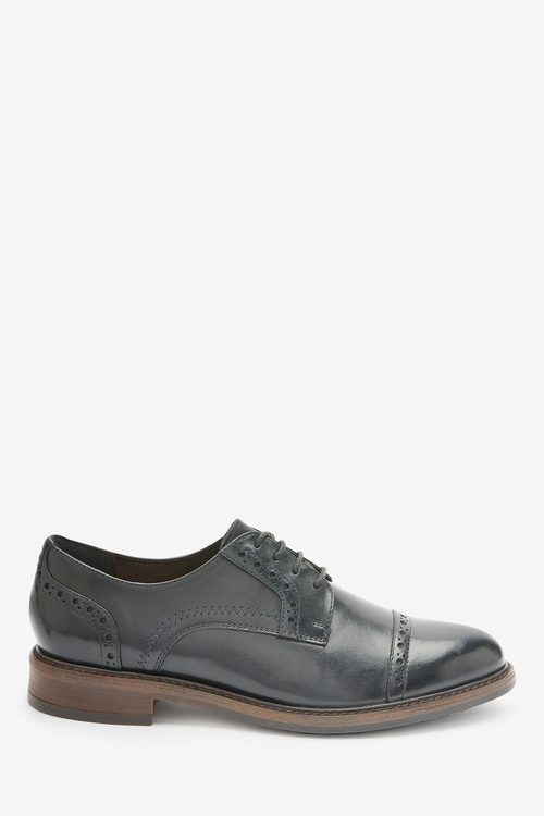 Next Leather Brogue Detail Lace-Up Shoes-Regular