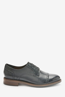 Next Leather Brogue Detail Lace-Up Shoes-Regular - 265787