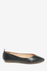 Next Signature Forever Comfort Leather Ballerinas- Wide Fit