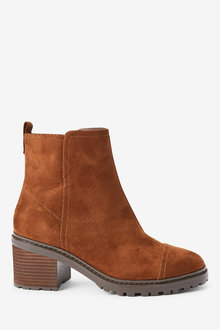 Next Forever Comfort Cleat Heel Boots-Regular - 265802