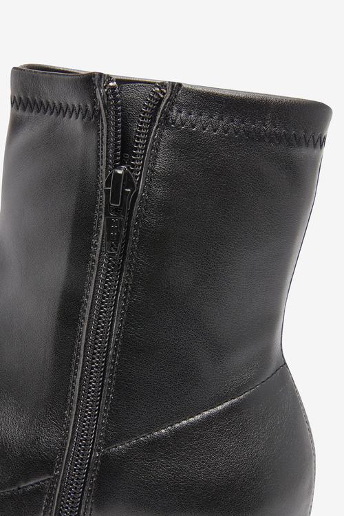 Next Forever Comfort Block Heel Sock Boots-Regular