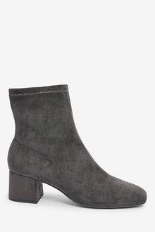 Next Forever Comfort Block Heel Sock Boots-Regular - 265803
